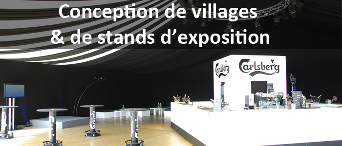 Conception de villages & de stands d'exposition